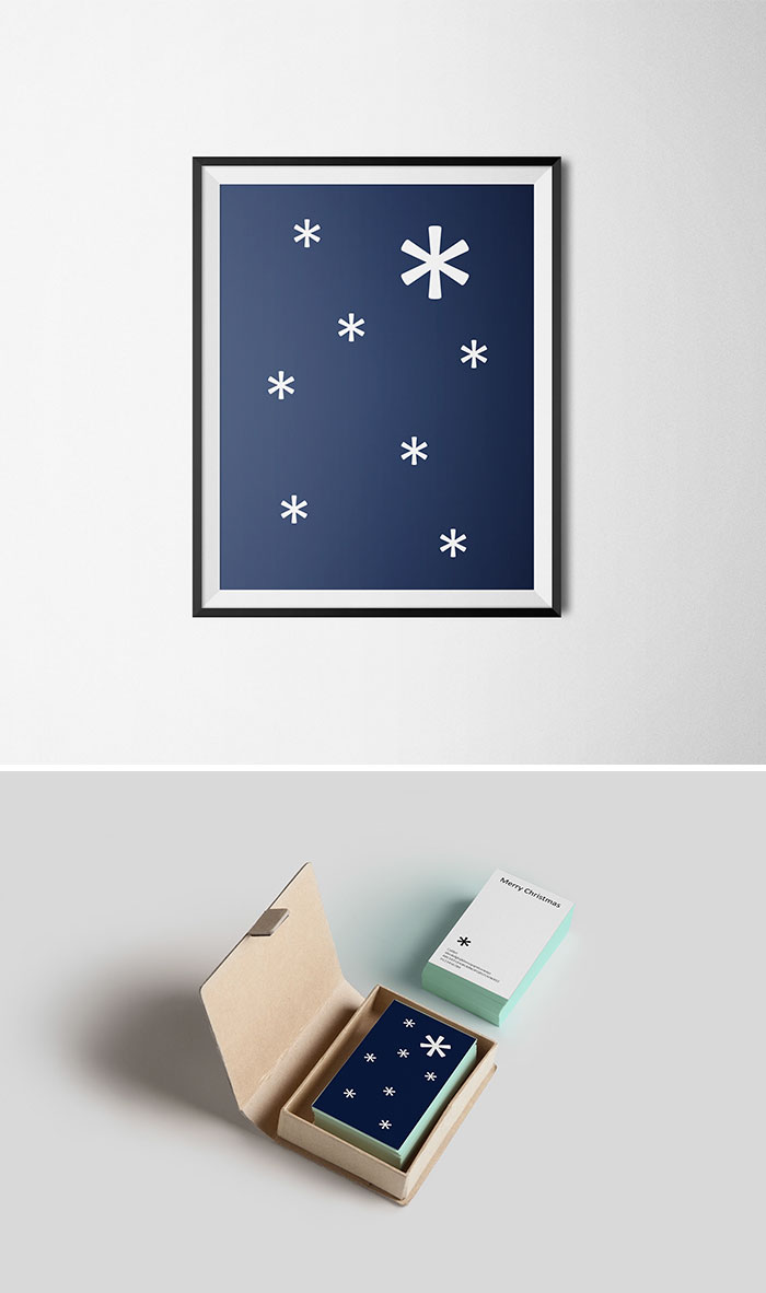 Des cartes de Noël qui utilisent intelligemment la typographie