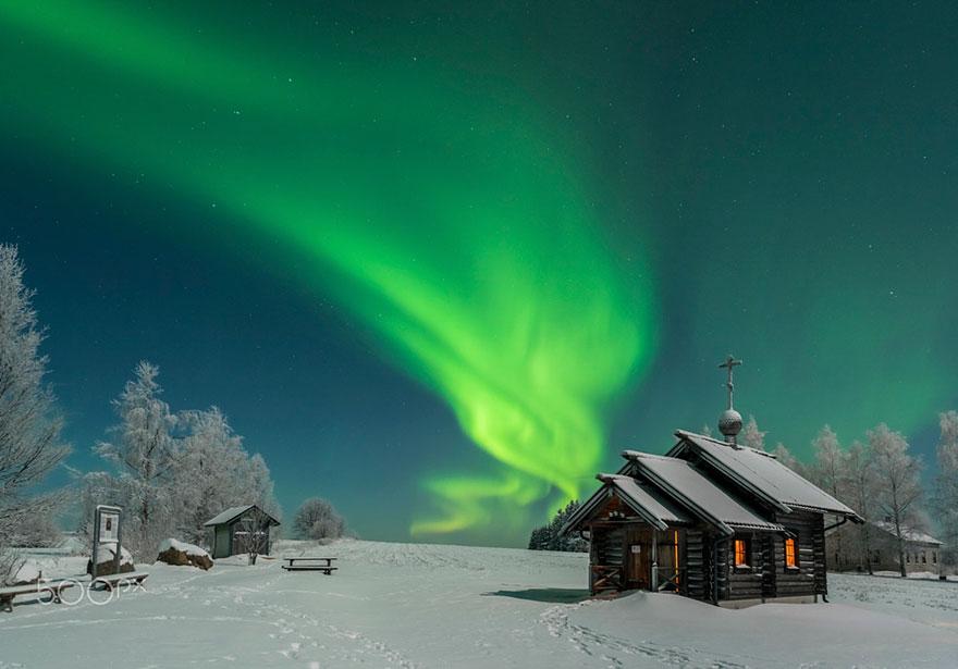 Des photos comme un compte de fée hivernal en Laponie