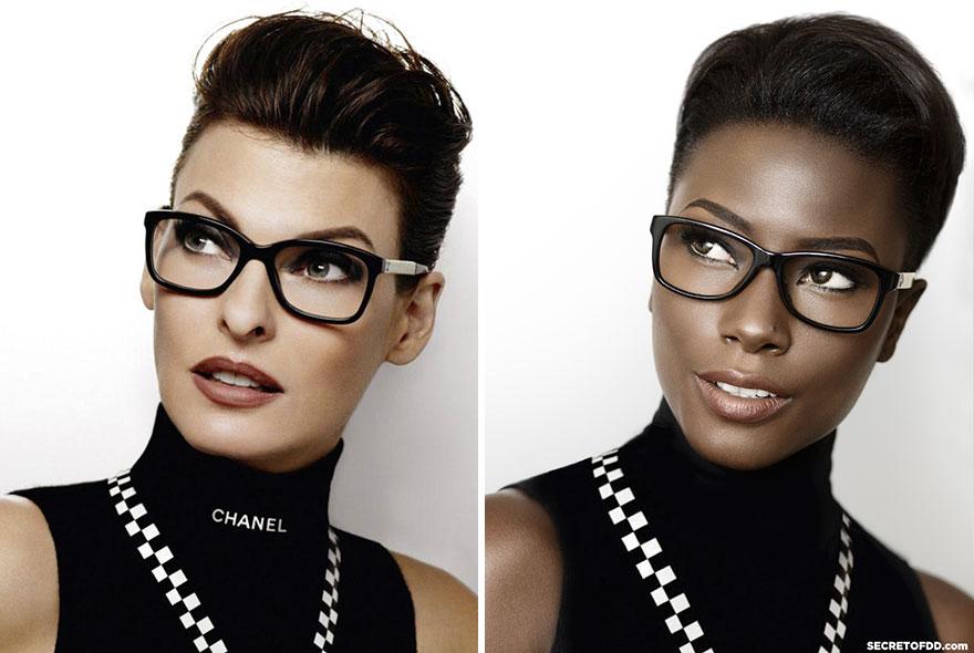 Un top modèle noir recrée des campagnes de pub célèbres pour souligner le manque de diversité dans la mode