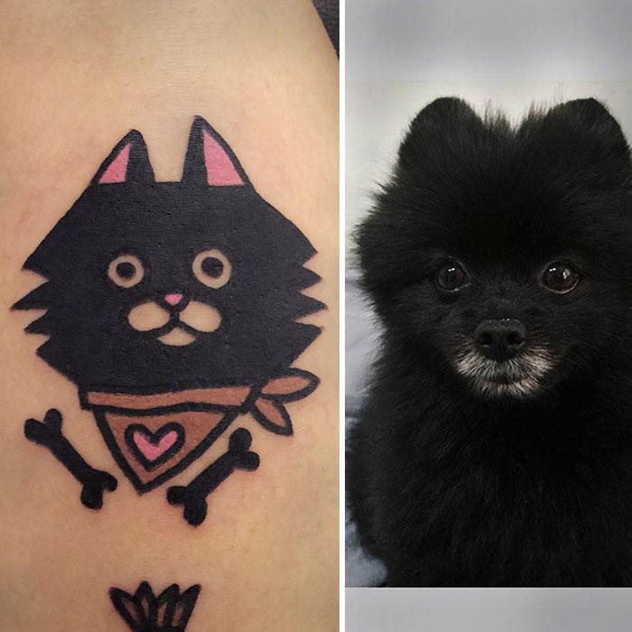 ce tatoueur sud cor en transforme vos animaux de compagnie dans des tatouages extra page 2 sur 2. Black Bedroom Furniture Sets. Home Design Ideas