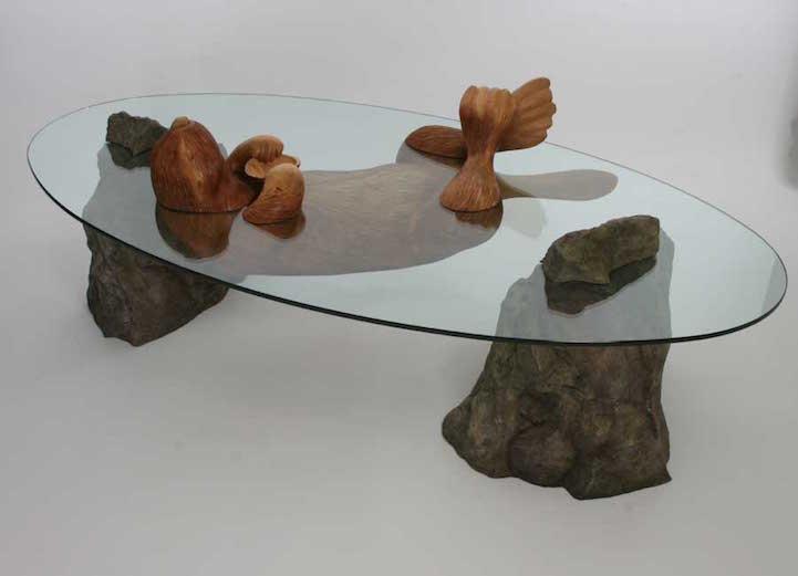 Cet Artiste Cr 233 E Des Tables Uniques Qui Ressemblent 224 Des