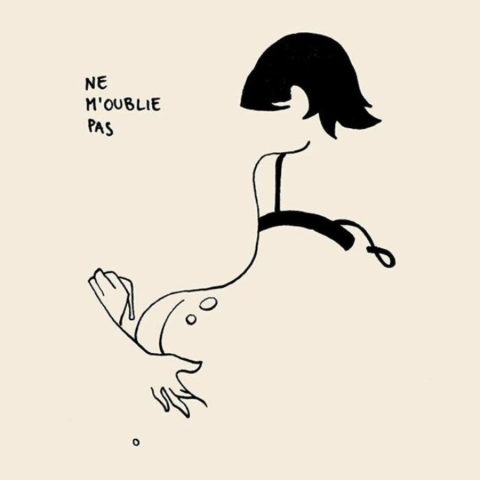 illustrations par un artiste anonyme parisien qui montrent comment juste quelques lignes peuvent