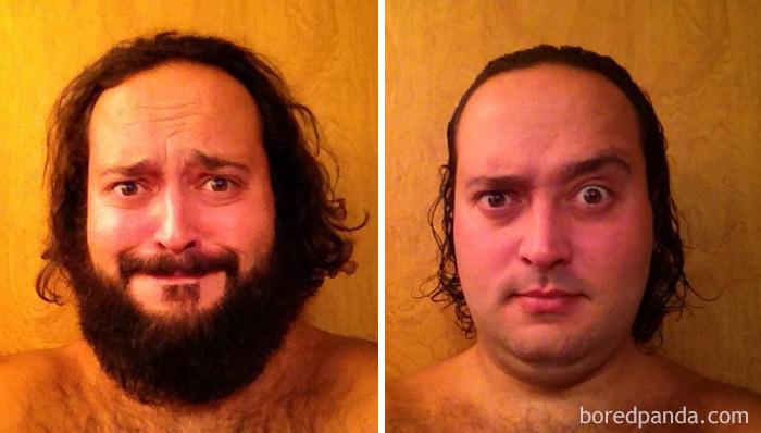 Plus de 40 transformations méconnaissables d'hommes après avoir rasé leurs barbes