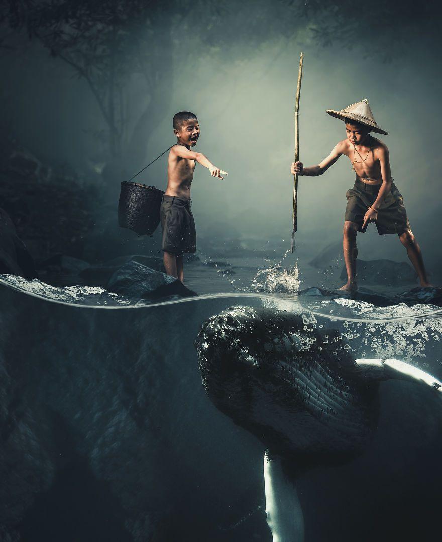 Il fusionne la réalité avec son imagination pour créer des oeuvres surréalistes