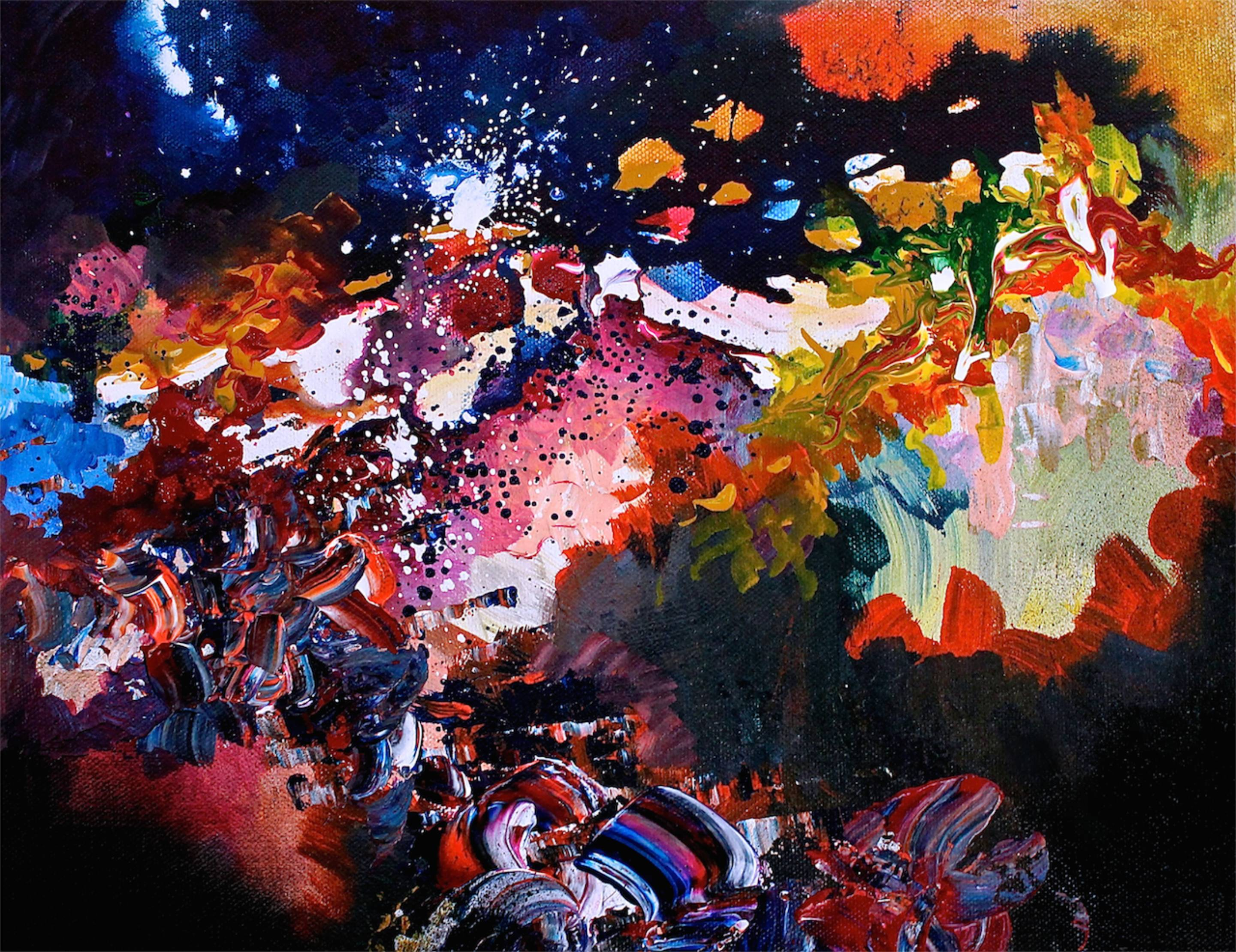 Une artiste avec une forme de synesthésie rare peut voir de la musique, elle peint des chansons célèbres