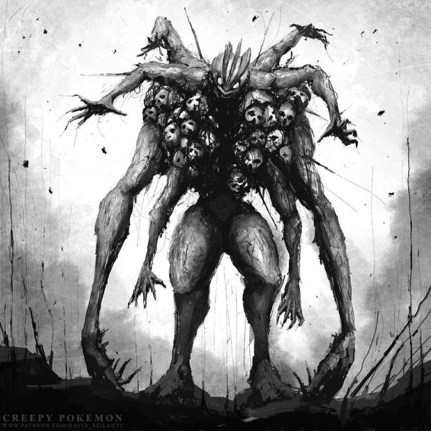 Cet artiste a réinventé plus de 20 Pokémon comme des monstres, ils sont terrifiants.
