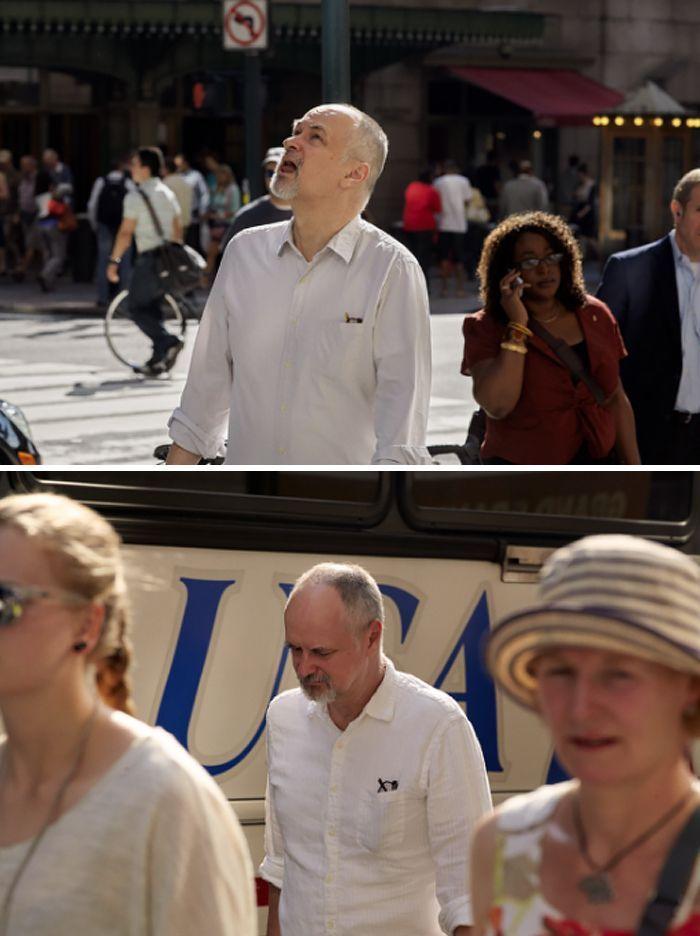 Un photographe passe 9 ans à prendre les mêmes personnes sur leur chemin pour aller travailler