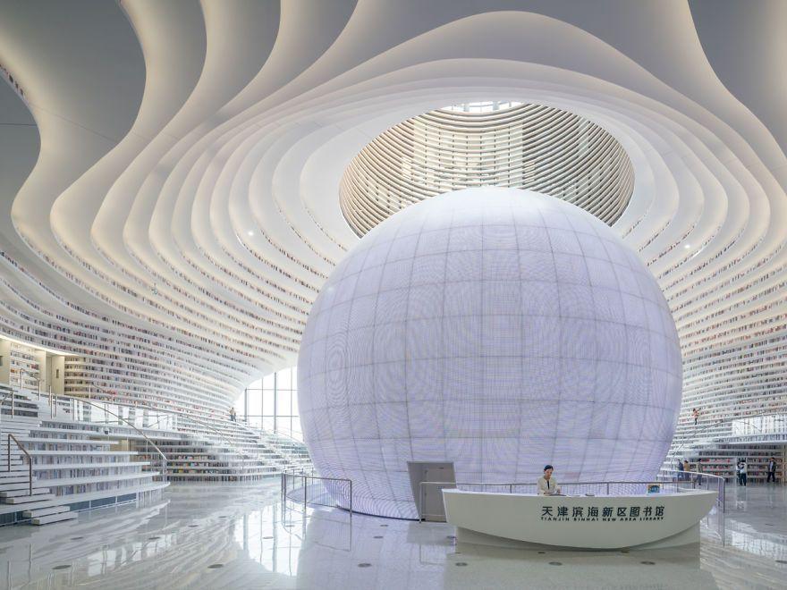 La bibliothèque la plus cool du monde ouvre en Chine, et son intérieur avec 1,2 million de livres va vous couper le souffle