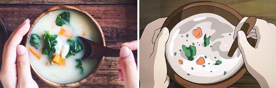 Une japonaise recrée de la nourriture des films de Miyazaki