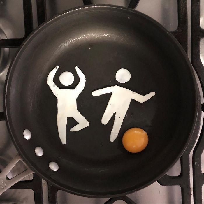 Cet artiste transforme ses œufs du petit déjeuner en œuvres d'art,