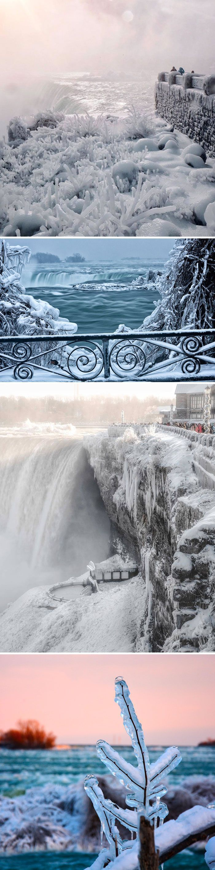 Il fait si froid en Amérique du Nord que les gens affichent des photos de leurs fenêtres brisées