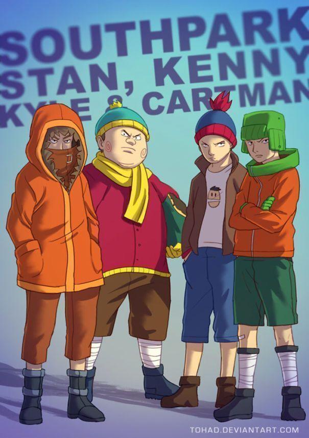 Les personnages de notre enfance bien-aimée transformés en monstres Tarantino par Sylvain Sarrailh