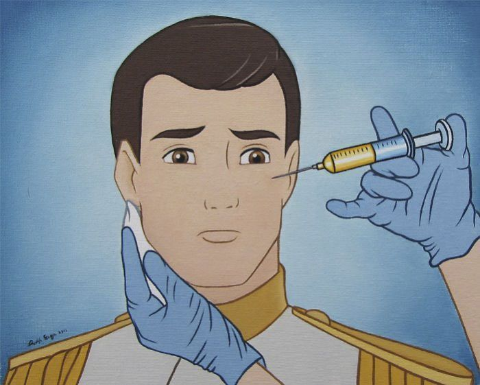 Plus de 20 illustrations controversées montrent des personnages de Disney vivant dans les temps modernes, cela ruinera votre enfance