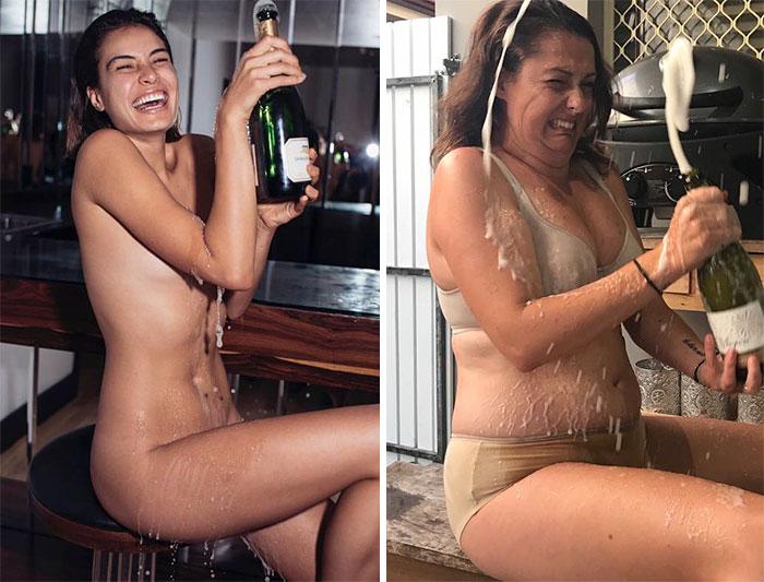 Cette femme continue de recréer les photos Instagram des célébrités (nouvelles photos)