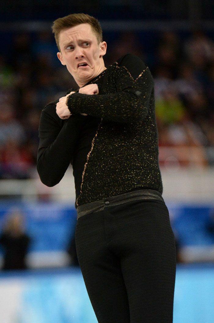 Plus de 40 visages drôles de patineurs artistiques olympiques