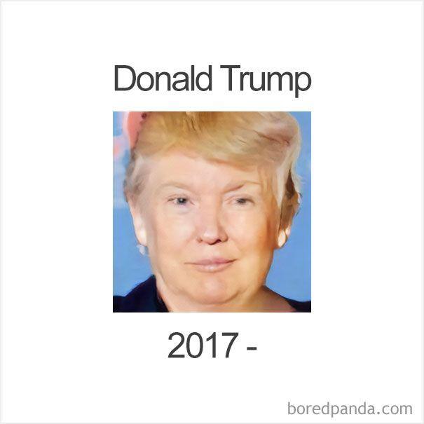 Quelqu'un a utilisé Face-Swap pour créer des versions féminines des présidents américains
