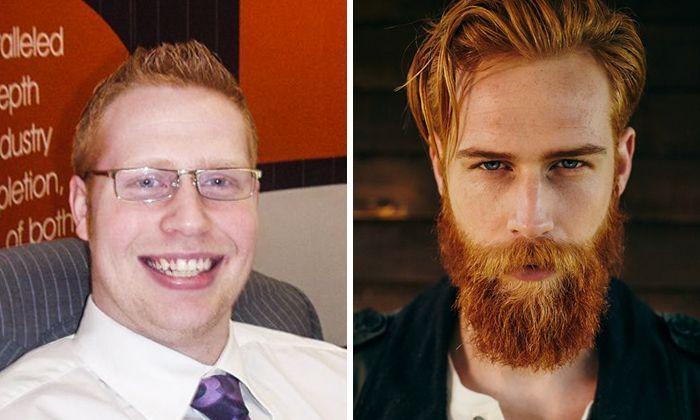un barbier sugg re cet homme timide de se faire pousser une barbe a lui change la vie. Black Bedroom Furniture Sets. Home Design Ideas