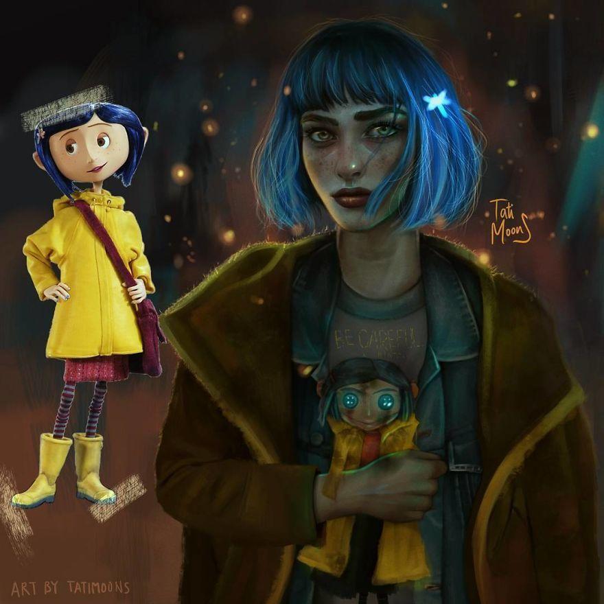 Une artiste fait des versions plus réalistes de personnages de dessin animé