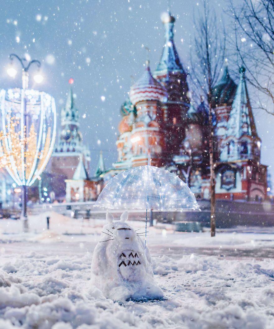 Une chute de neige transforme Moscou en un paysage merveilleux d'hiver