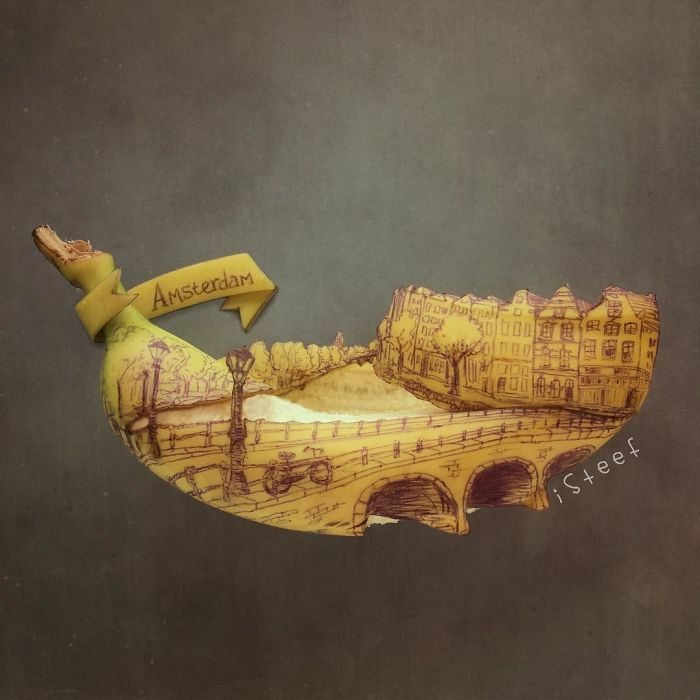 Un artiste transforme les bananes en œuvres d'art, le résultat est étonnamment bon.