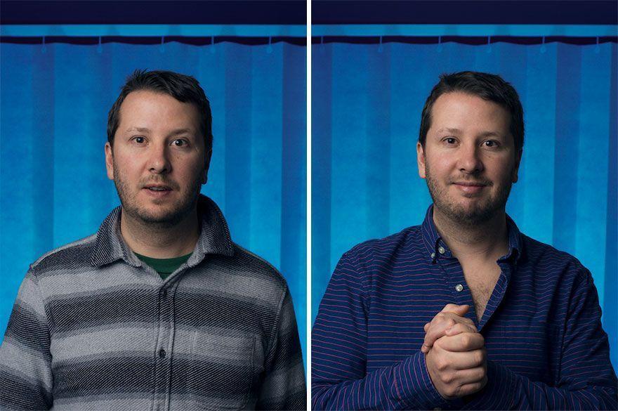 Un photographe capture des hommes avant et après être devenu père, le résultat dit tout.