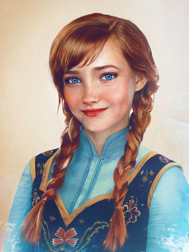 Une artiste imagine des personnages de Disney comme de vraies personnes