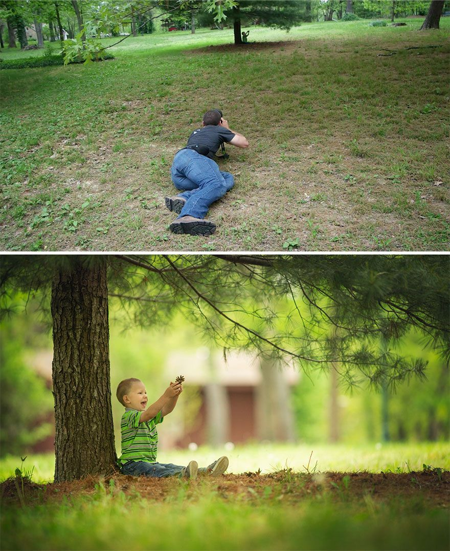 Le même lieu ordinaire pour un photographe professionnel et pour un amateur.
