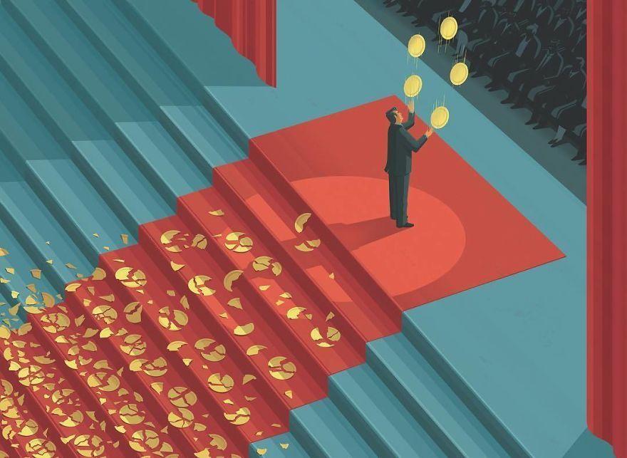 Plus de 20 illustrations provocatrices et honnêtes sur nos vies par Stephan Schmitz.