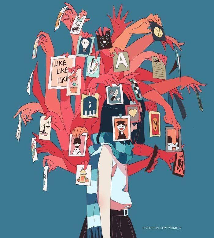 Plus de 40 illustrations sombres et puissantes