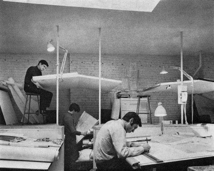 19 photos vintage étonnantes qui montrent comment les gens travaillaient avant AutoCAD