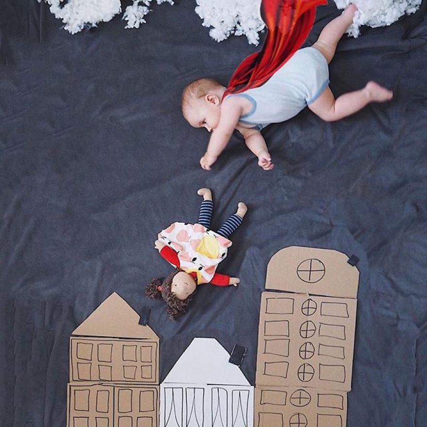Elle capture ce que c'est que d'être une mère de deux enfants d'un point de vue inhabituel
