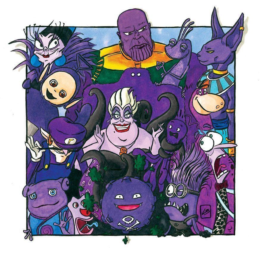 J'ai trié des personnages célèbres par couleur, et c'est ce que j'ai découvert