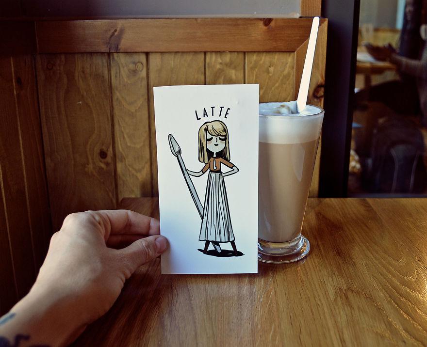 Le café inspire ces mignons petits personnages