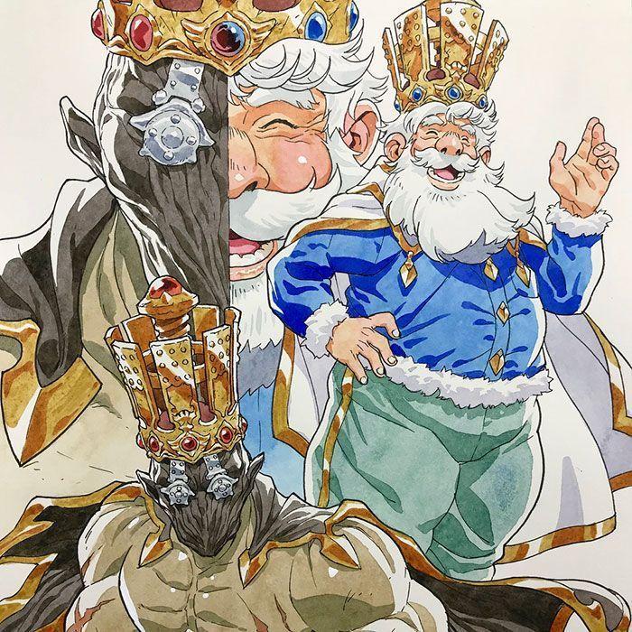 Papa transforme les gribouillis de ses fils en personnages d'Anime, et le résultat est incroyable (Partie V)