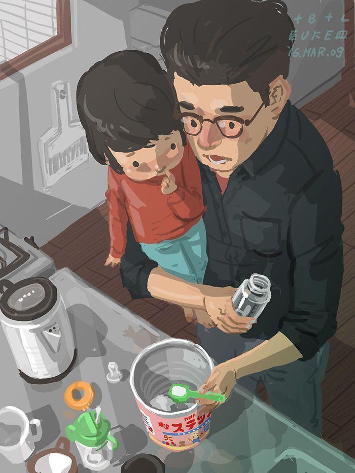 Un père célibataire illustre ce que c'est que d'élever un enfant, et ça fera fondre votre cœur