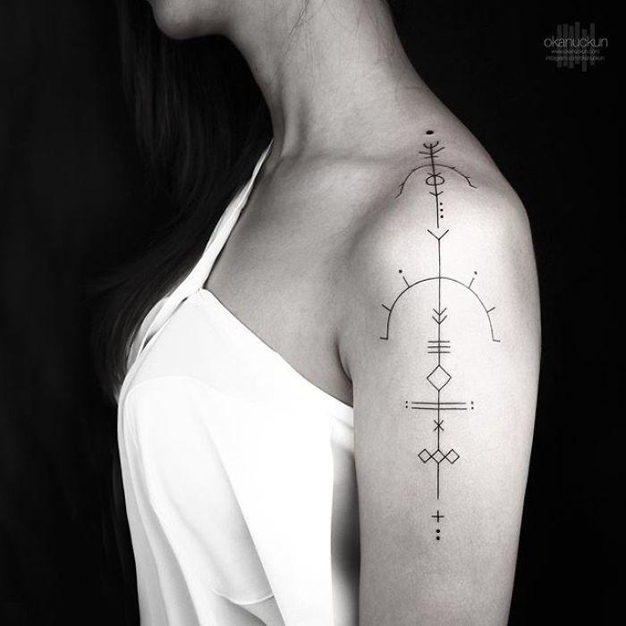 49 Amazing Geometric Tattoos By Turkish Artist Okan Uçkun