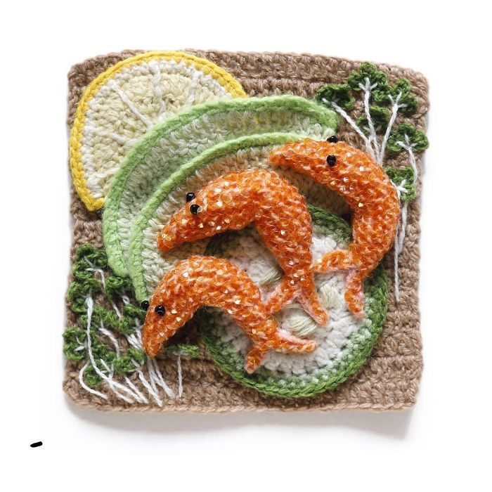 This Artist Crochets Sea Food So Well That It's Hard To Resist Eating It
