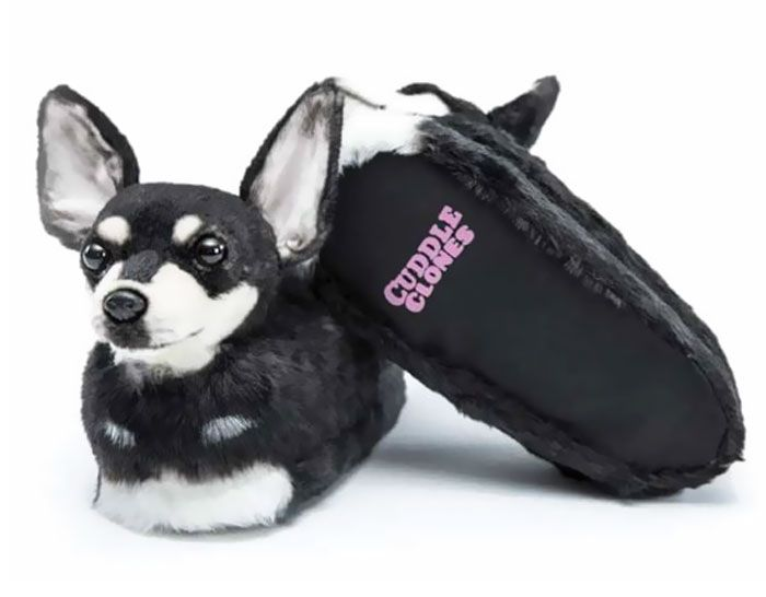 This Company Makes Slippers That Look Just Like People's Pets And They Are So Realistsic That Dogs Get Jealous