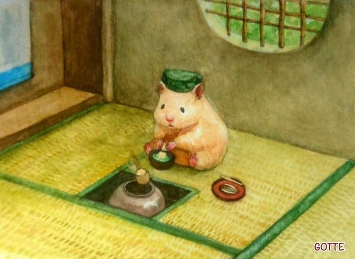 Japanese Artist Depicts The Typical Life Of His Pet Hamster, And The Result Is Adorable