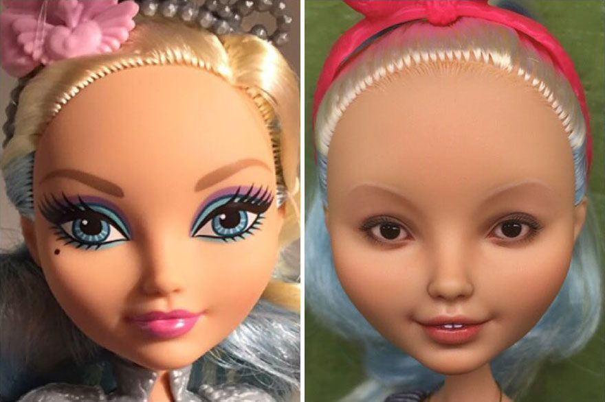 Ukrainian Artist Continues To Remove Makeup From Dolls To Give Then A 'Realistic' Look, And The Result Is So Much Better (New Pics)