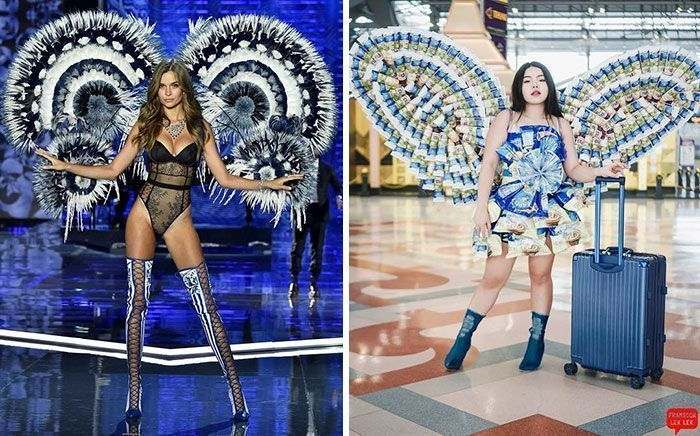 Woman Hilariously Recreates Celebrity Outfits Using Everyday Items And They Look Better Now (50 New Pics)