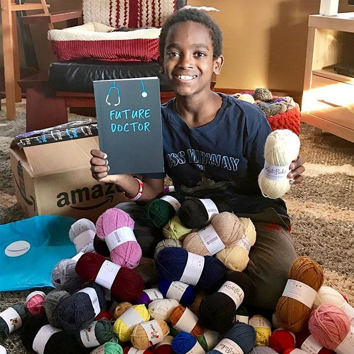 This 11-Year-Old Boy Learned To Crochet At The Of Age 5 And Is Now Called A Crocheting Prodigy