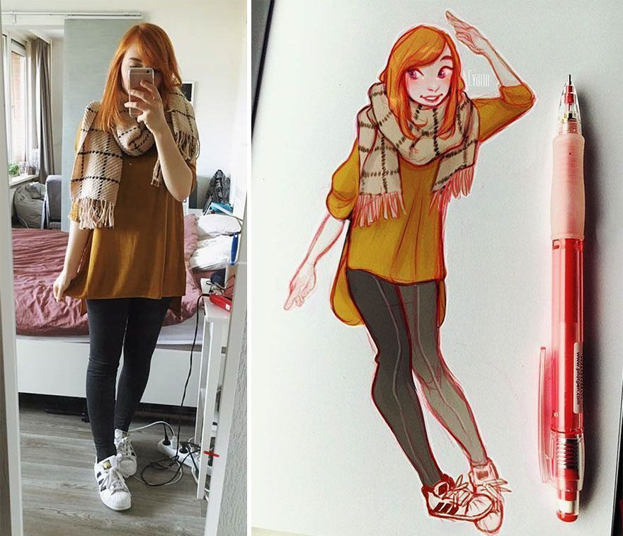 This Dutch Artist Turns Herself And Other People Into Cartoons And Her 1.5M Followers Love It