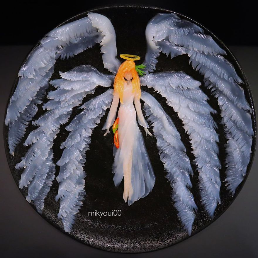 Sashimi Artist Designs Incredible Food Art From Raw Fish And Other Edible Ingredients