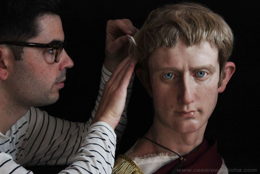 Italian Artist Recreates Famous Roman Emperors Through His Realistic Sculptures