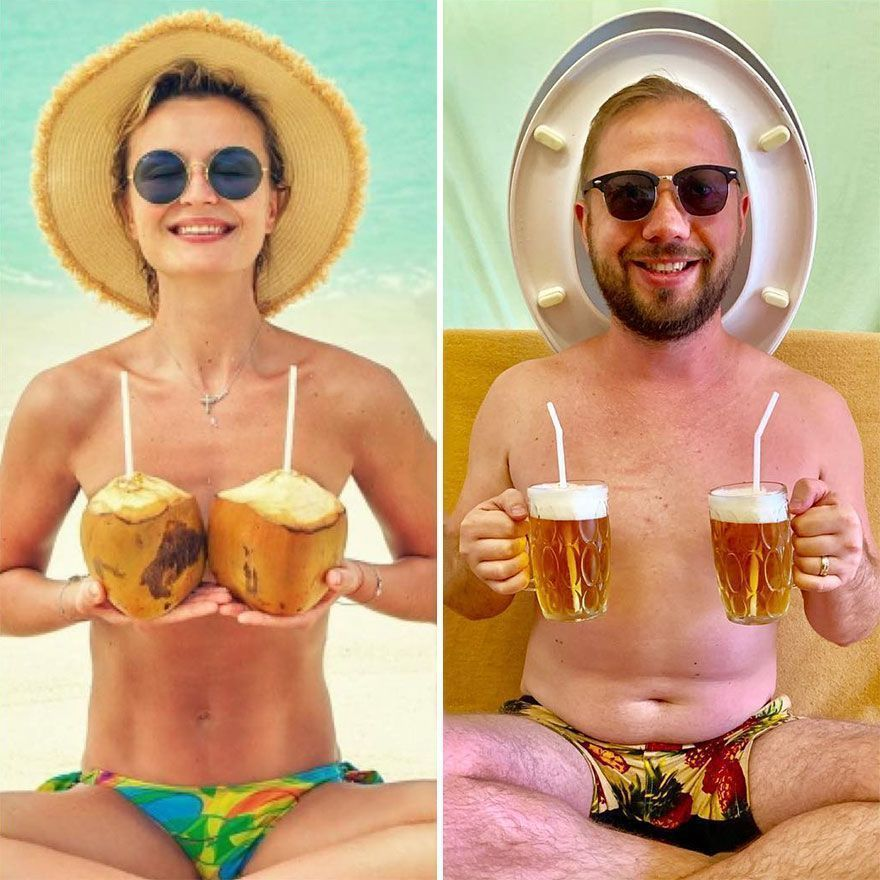 Russian Blogger Makes Parodies Out Of Celebrity Photos, And More Than 20,000 Followers On Instagram Approve