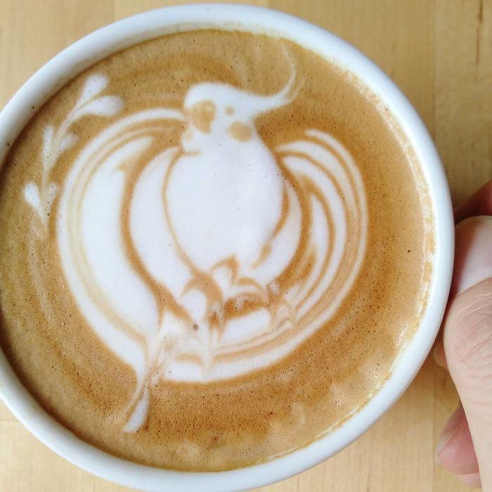 30 Pics Of Amazing Bird Latte Art By Japanese Artist