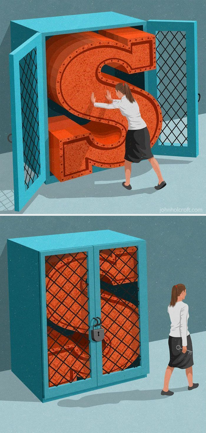 57 Satirical Illustrations By John Holcroft That Show What's Wrong With Today's World (New Pics)