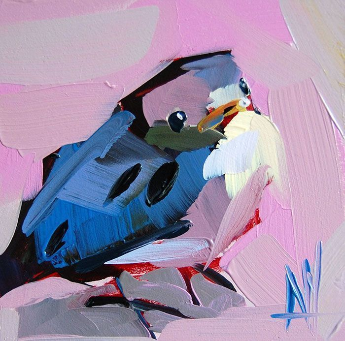 This Artist Uses Thick Strokes To Create Intricate Oil Paintings Of Birds