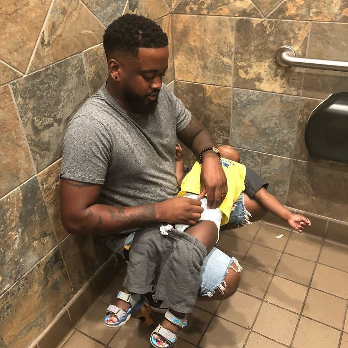 Inspired By Dad's Viral Photo, John Legend Helps Pampers Install 5,000 Changing Tables In Men's Restrooms